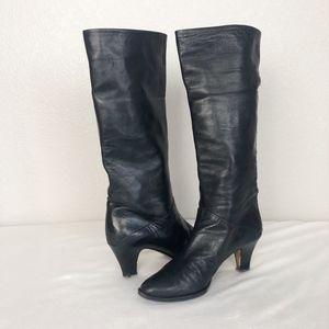Antonio Rossi Leather Black Boots sz 6.5